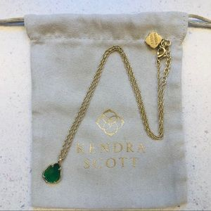 NWOT Kendra Scott peridot drop necklace